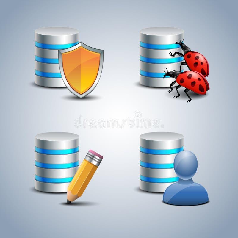 Datenbank-Ikone eingestellt # 4 lizenzfreie abbildung