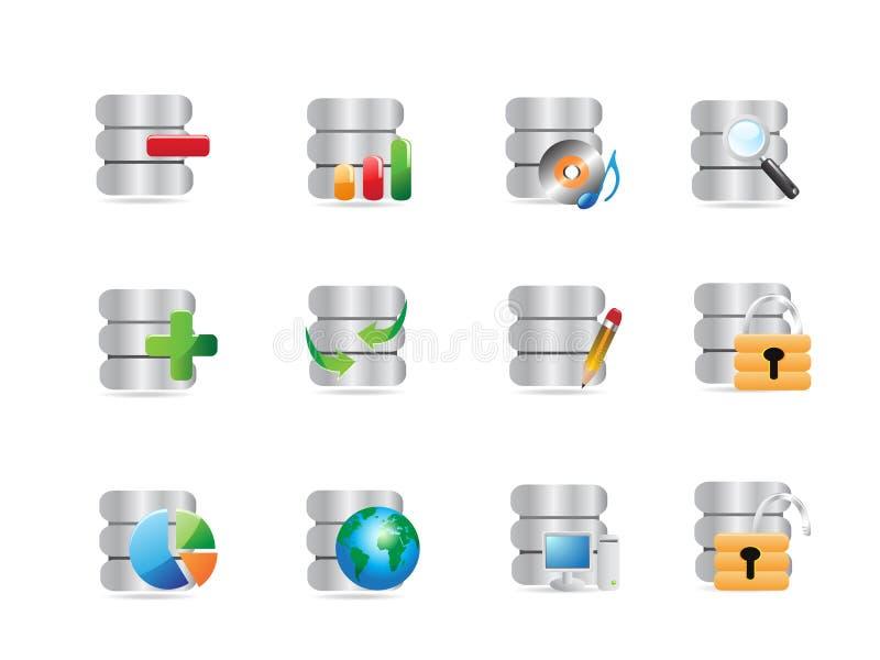 Datenbank- Ikonen stock abbildung