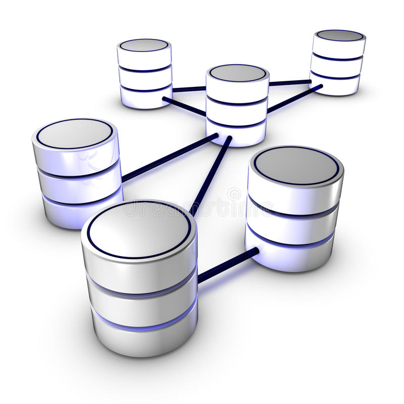 Datenbank-Netz stock abbildung