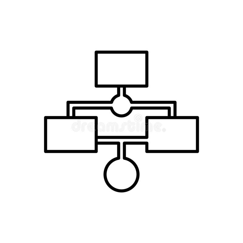 Datenbank, Server, Arbeitsflussikone - Vektor Datenbankvektorikone stock abbildung