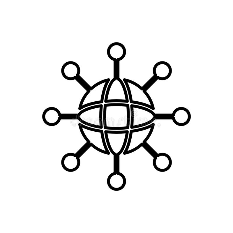 Datenbank, Server, Netzikone - Vektor Datenbankvektorikone lizenzfreie abbildung