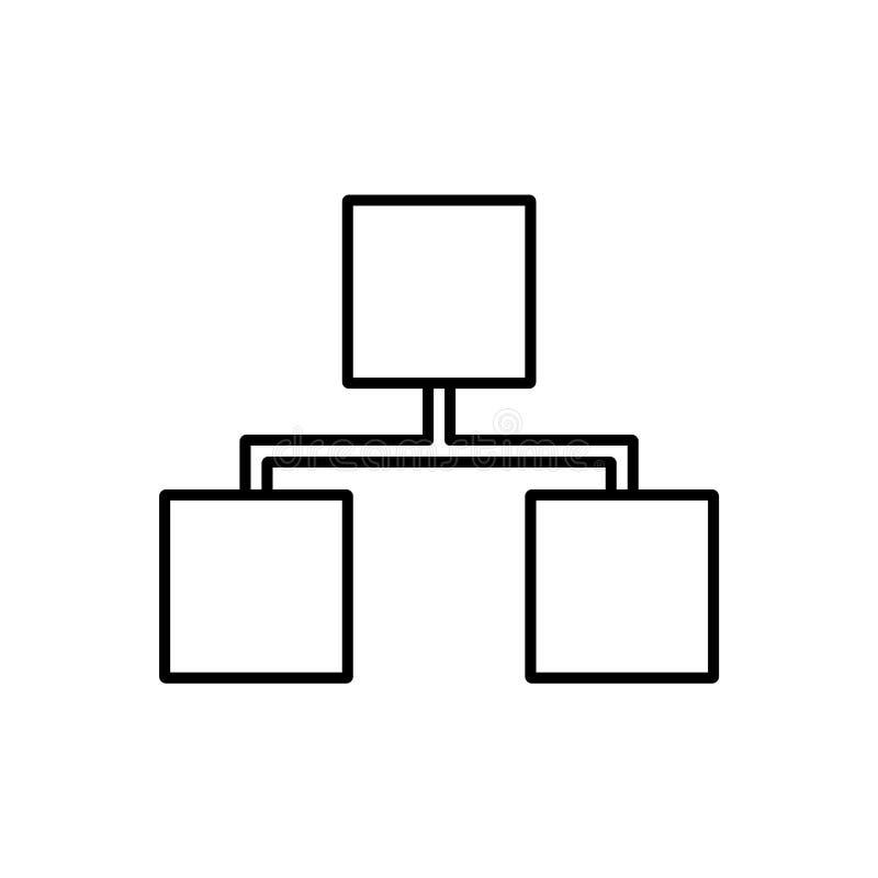Datenbank, Server, Speicherikone - Vektor Datenbankvektorikone stock abbildung
