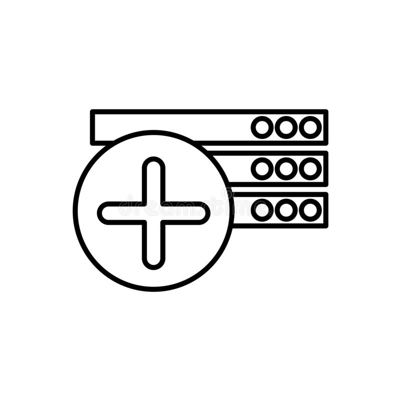 Datenbank, Serverikone - Vektor Datenbankvektorikone stock abbildung
