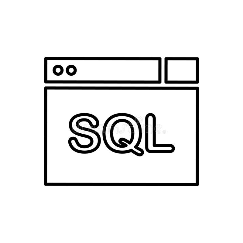 Datenbank, Serverikone - Vektor Datenbankvektorikone vektor abbildung