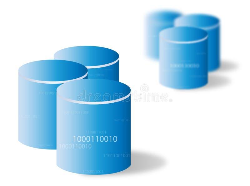 Datenbank/Speicherung lizenzfreie abbildung