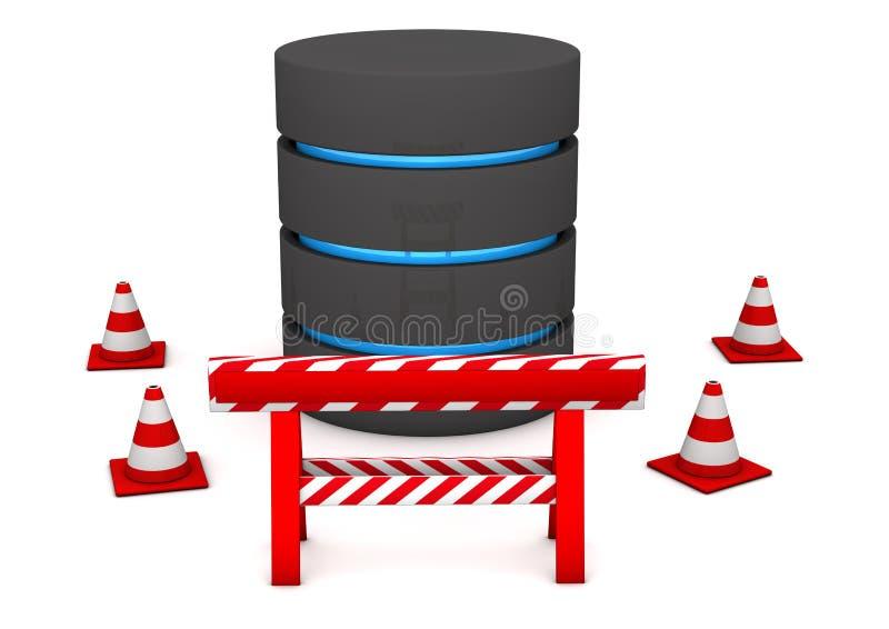 Datenbank-Wartung lizenzfreie abbildung