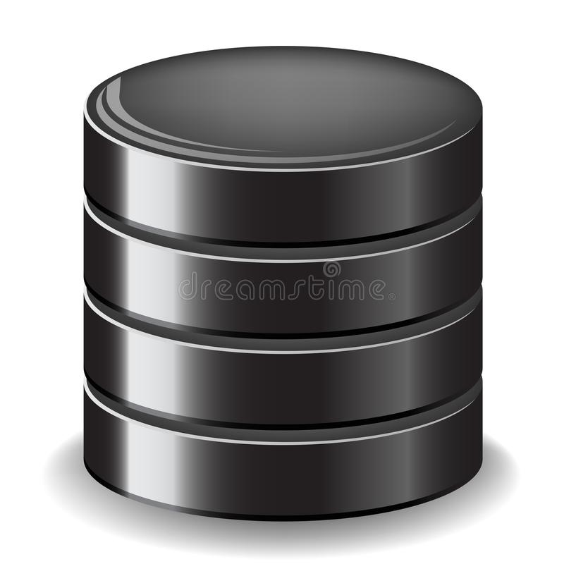 Datenbankserverikone stock abbildung
