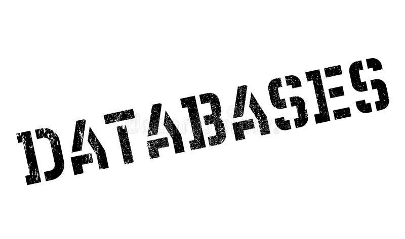 Datenbankstempel stock abbildung