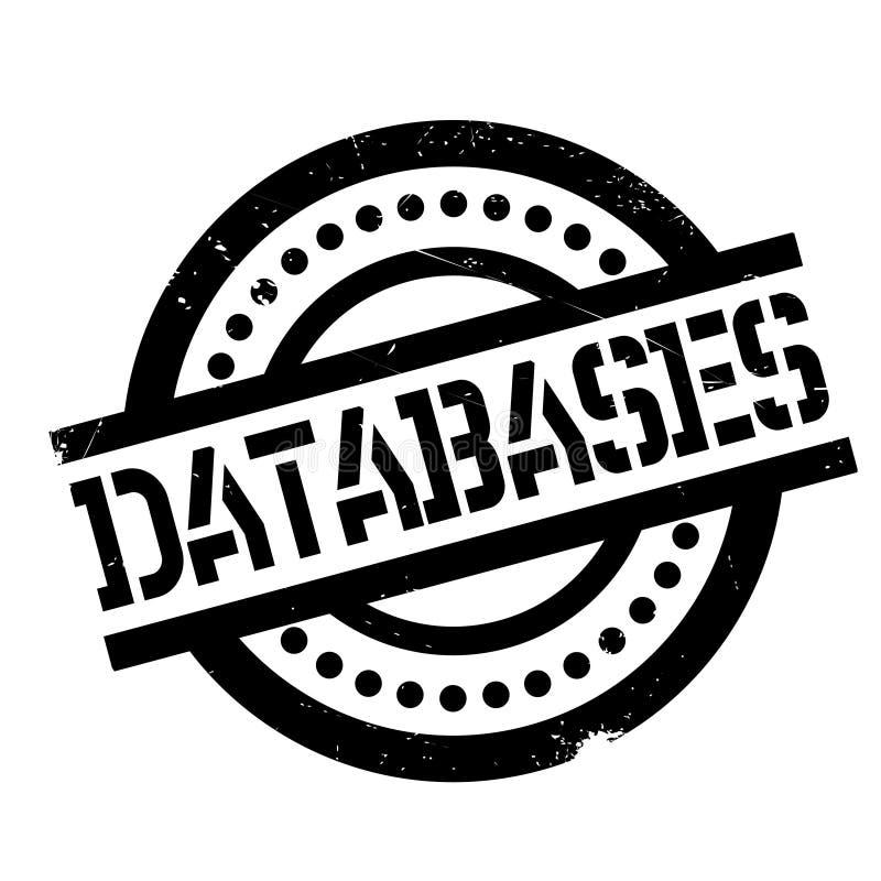 Datenbankstempel lizenzfreie abbildung