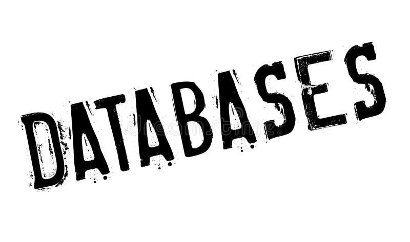 Datenbankstempel lizenzfreie stockbilder