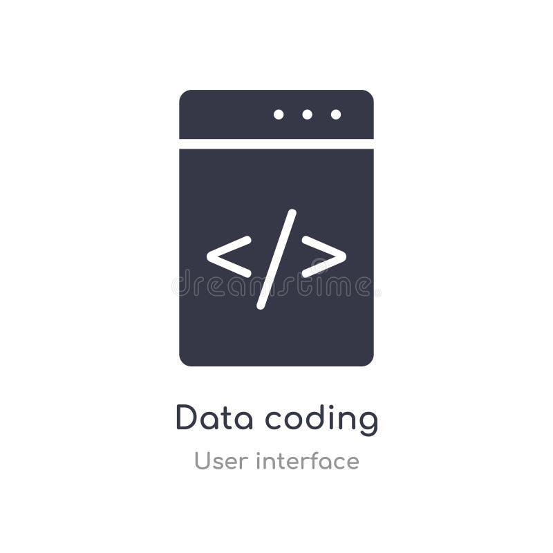 Datenkodierungs-Entwurfsikone lokalisierte Linie Vektorillustration von der Benutzerschnittstellensammlung editable Haarstrichdat vektor abbildung
