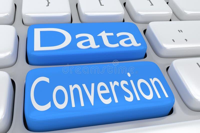Datenkonvertierungskonzept stock abbildung