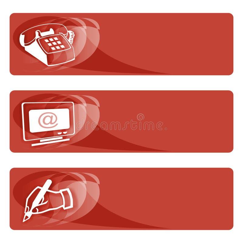 Datenmarken rot stock abbildung