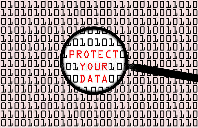 Datenschutz vektor abbildung