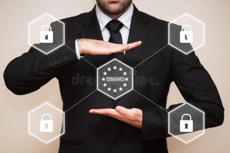 Datenschutz Grundverordnung futerkowy Unternehmen DSGVO zdjęcia royalty free