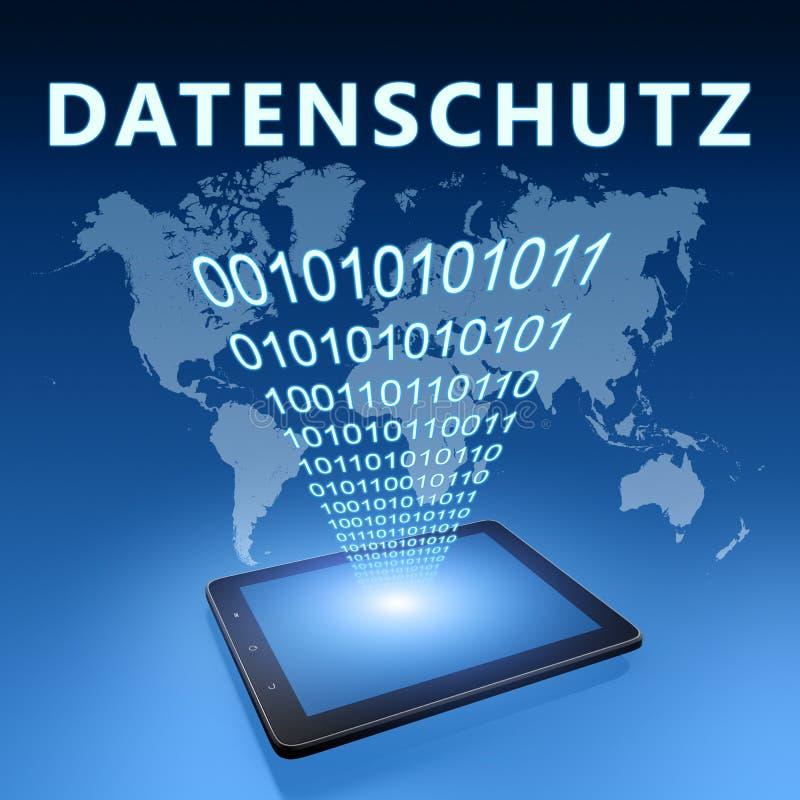 Datenschutz ilustracji