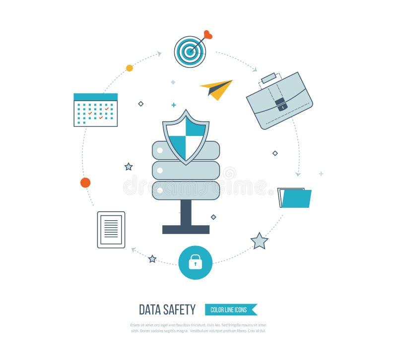 Datenschutz und sichere Arbeit Anlagewert vektor abbildung