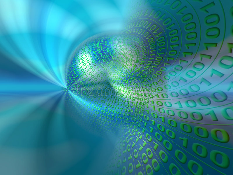 Datenservers, vitual Wirklichkeit lizenzfreie abbildung