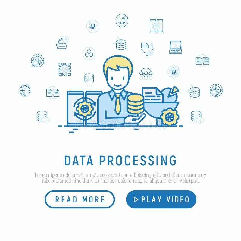 Datenverarbeitendes Konzept: smm Manager analysiert vektor abbildung