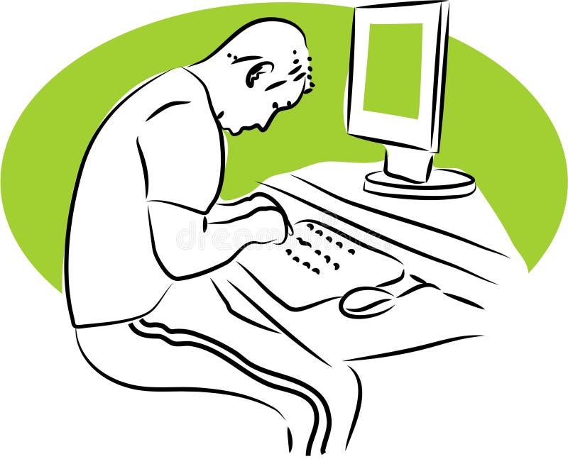 Datenverarbeitung lizenzfreie abbildung