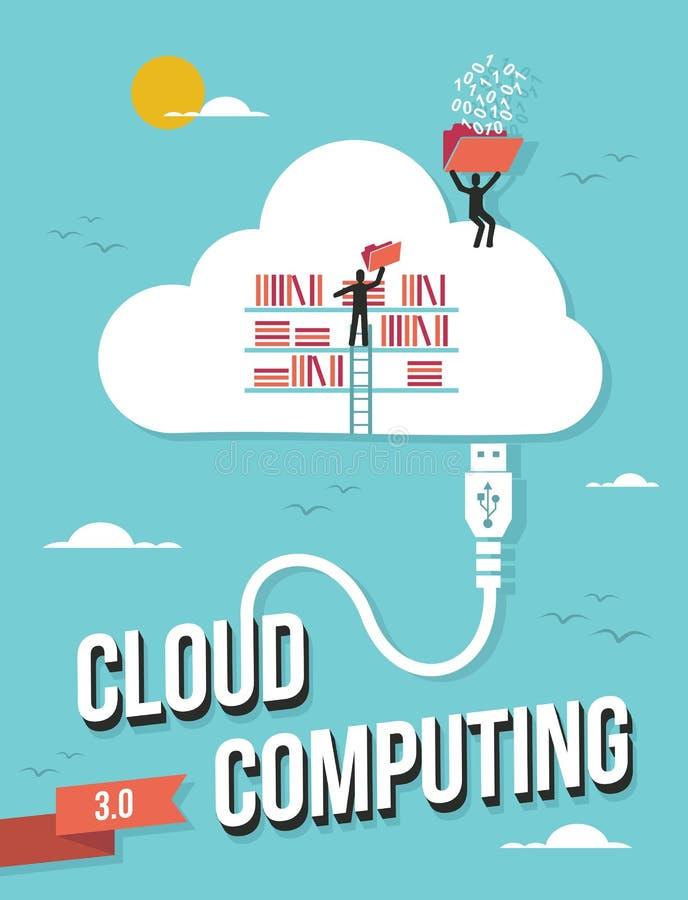 Datenverarbeitungskonzept der Wolke stock abbildung
