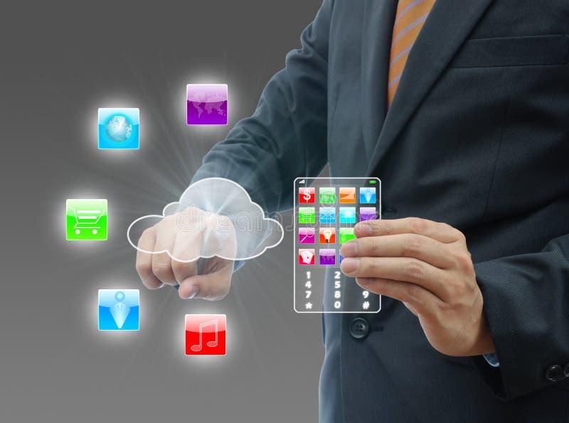 Datenverarbeitungskonzept der Wolke. stockfotografie