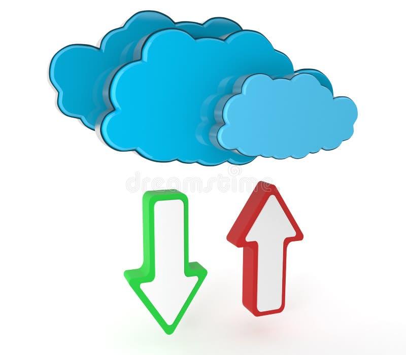 Datenverarbeitungskonzept Der Wolke Stockfotografie