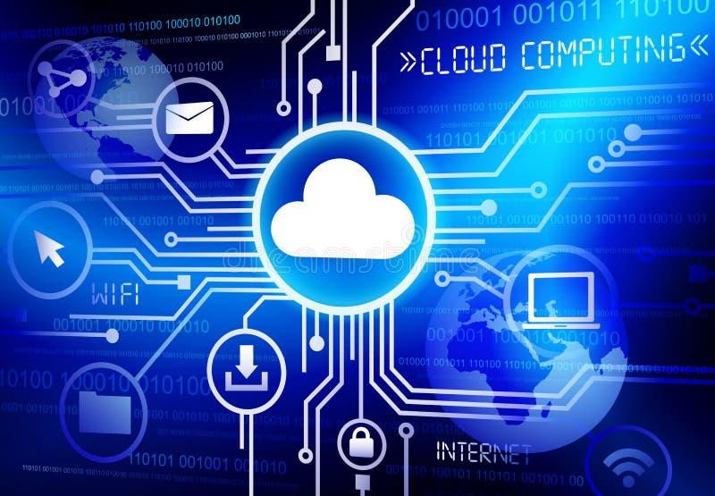 Datenverarbeitungsvektor konzept der Wolke stock abbildung