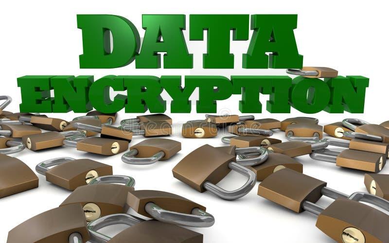 Datenverschlüsselung und -sicherheit stock abbildung