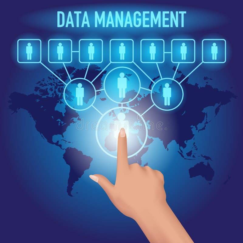 Datenverwaltung lizenzfreie abbildung