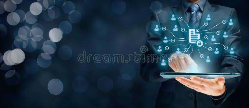 Datenverwaltung und Privatleben stockfotografie