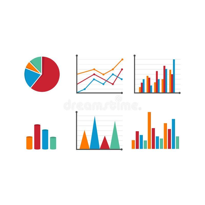 Datenwerkzeugfinanzdiagramm und -graphik lizenzfreie abbildung