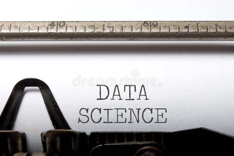 Datenwissenschaft lizenzfreies stockfoto