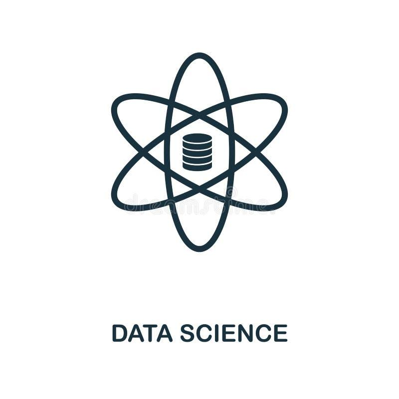 Datenwissenschaftsikone Einfarbiger Artentwurf von der großen Datenikonensammlung Ui Piktogrammdaten-Wissenschaftsikone des Pixel vektor abbildung