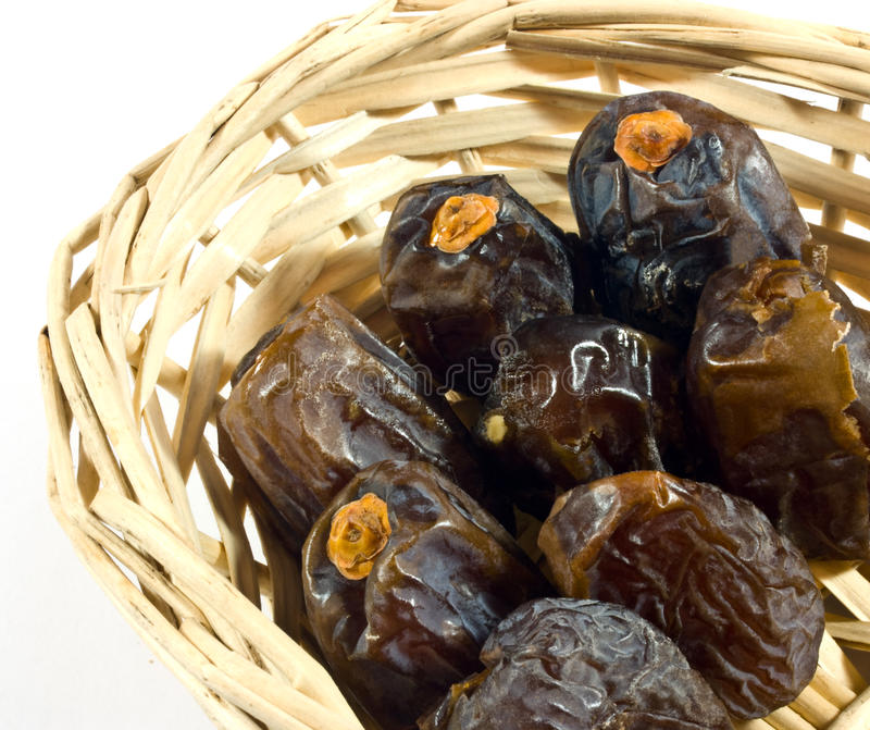 Dates In Basket Stock Photography