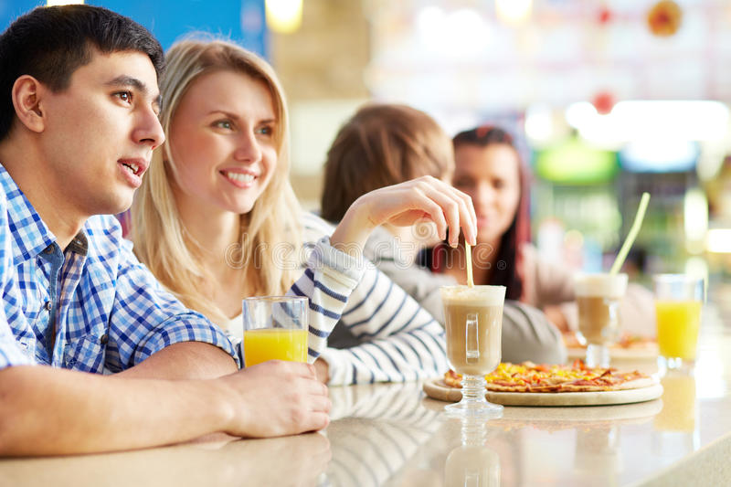 Download Dates in cafe stock image. Image of juice, happy, lunch - 33211845