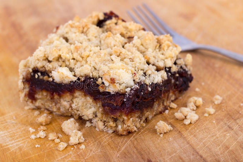 Dates crumble square bar royalty free stock photo