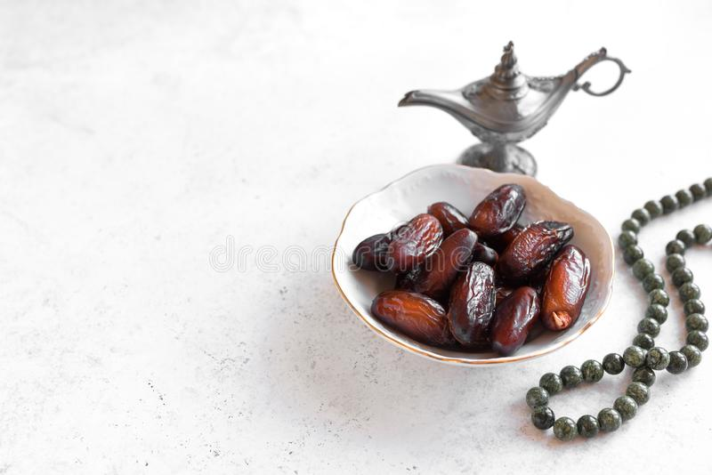 Dates for Iftar meal royalty free stock image