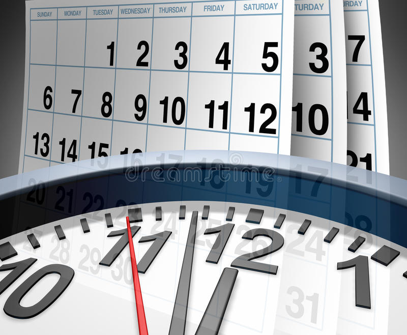 Dates-limites et urgence illustration stock