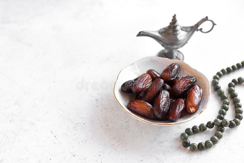 Dates pour le repas d'Iftar image libre de droits