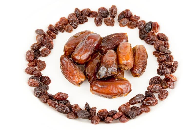 Dates and raisins royalty free stock photo