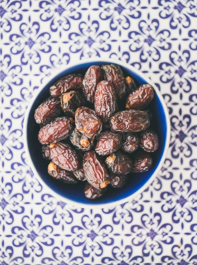 Dates for Ramadan iftar royalty free stock photo