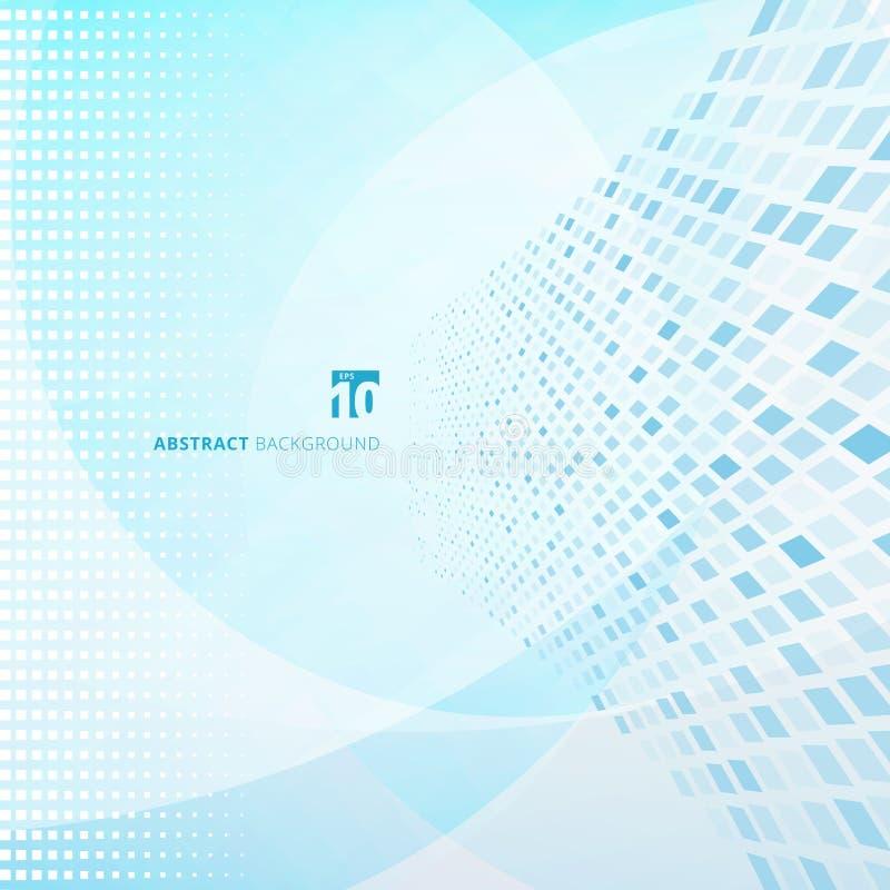 Dati astratti di tecnologia che ordinano sistema astuto Grandi dati Quadrato blu illustrazione di stock