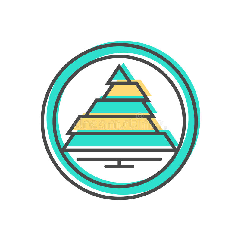 Dati che ordinano icona con il segno di schema illustrazione di stock