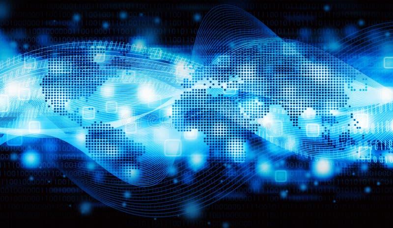 Dati del Internet del mondo illustrazione di stock