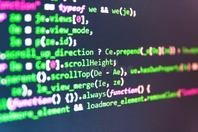 Dati di codice macchina Ottimizzazione di SEO Codice sorgente del software immagine stock libera da diritti