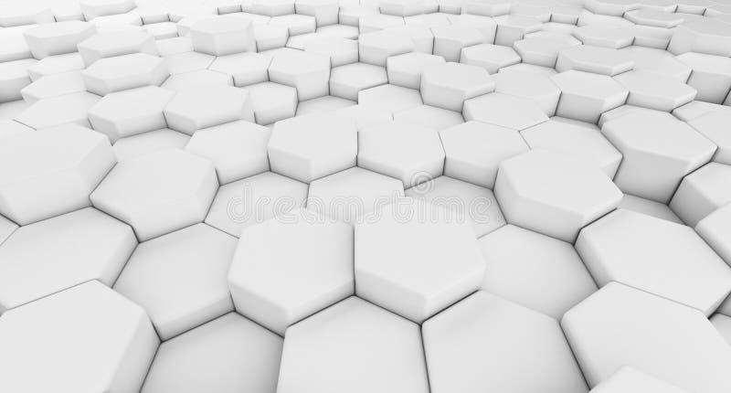 Dati di Digital Forma di esagono in struttura del technol di architettura illustrazione vettoriale