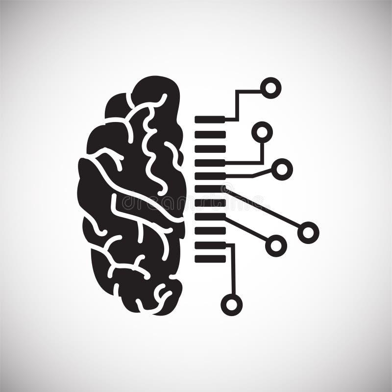 Dati di schema del cervello su fondo bianco per il grafico ed il web design, segno semplice moderno di vettore Concetto del Inter royalty illustrazione gratis