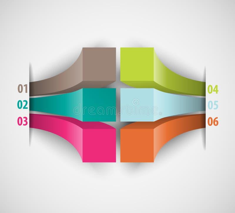 Dati moderni di infographics per le presentazioni di affari illustrazione vettoriale