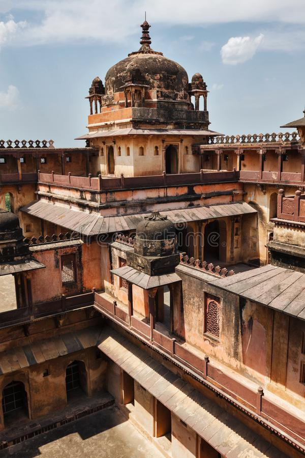Datia palace in Madhya Pradesh, India. Datia palace indian architecture. Madhya Pradesh, India royalty free stock images